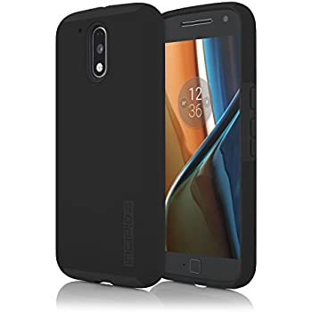Incipio DualPro Case for Motorola Moto G4 & Moto G4 Plus - Retail Packaging - Black/Black