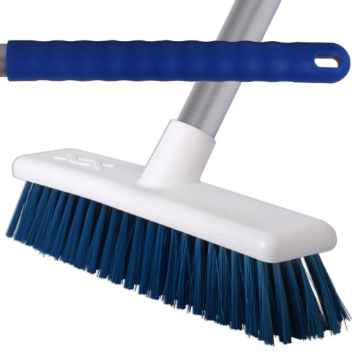 2 Pack Of 45cm Blue Soft Hygiene Sweeping Brushes With 125cm Handles For Home /& Industrial Floors.