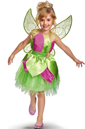 Disney Fairies Tinker Bell Deluxe Girls Costume, 3T-4T]()