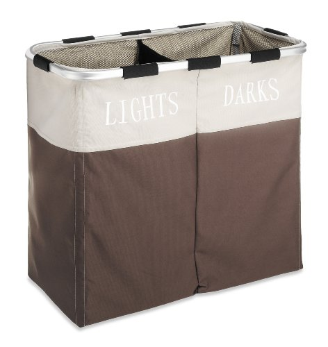 Whitmor Easycare Double 2-Section Laundry Hamper,