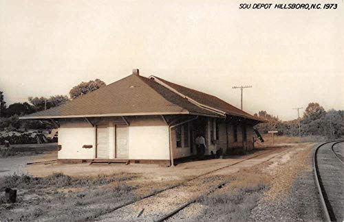 Hillsboro North Carolina SOU Railroad Depot Real Photo Vintage Postcard K105823