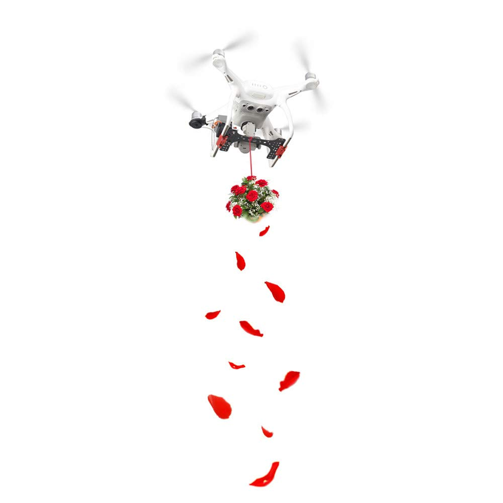 Weite Drone Clip Payload Release and Drop Device Kits Compatible with DJI Phantom 4/4 PRO Series, Double Release Thrower Drone Delivery Device, AirDrop Release Fishing Bait Wedding Proposal (Black) by Weite (Image #4)