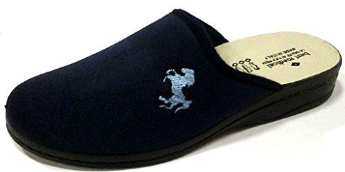 BEST MEDICAL - Zapatillas de estar por casa de tela para hombre azul turquesa 43