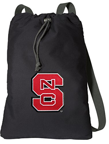 (Broad Bay NC State Drawstring Backpack Rich Canvas NC State Wolfpack Cinch Bag)