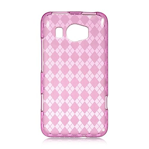DreamWireless CSHTCTITAN2HPCK HTC Titan 2 Crystal Skin Case, Hot Pink Checker