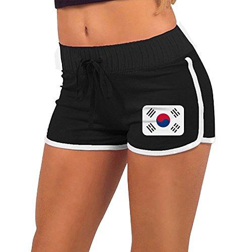 ODLS7 Women's Fashion South-Korea Beach Shorts Summer Athletic Casual Short Pants Low Waist Sexy Hot