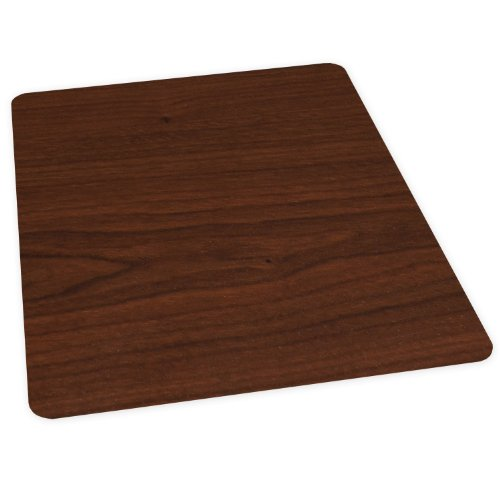 - ES Robbins Wood Veneer Style Rectangle Chair Mat for Hard Floors, 36 by 48-Inch, Mahogany