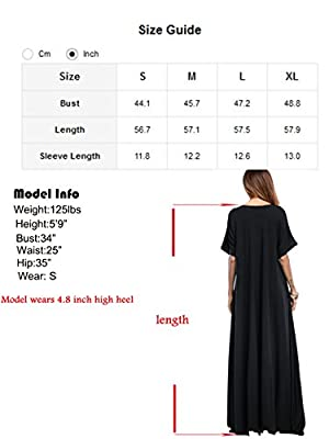 Romwe Women's Solid Short Sleeve Pocket Loose Maxi Long Party Dress