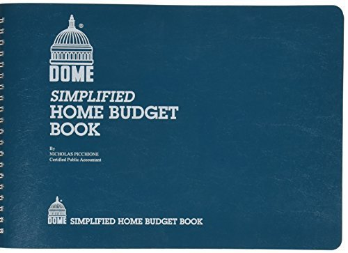 Dome Publishing Simplified Home Budget Book - 64 Sheet(s) - Wire Bound - 7.50'' x 10.50'' Sheet Size - White - 1Each, 2 Packs
