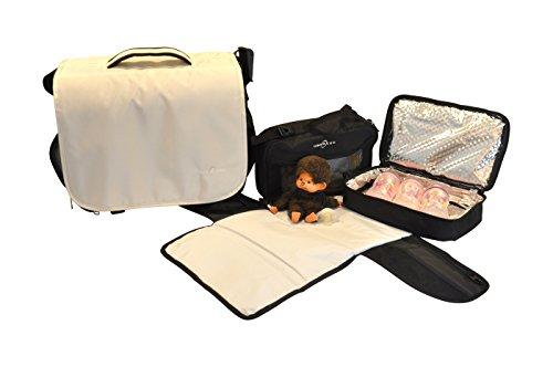 Obersee Madrid Convertible Diaper Backpack Messenger Bag