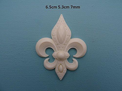 Decorative Fleur-de-lis Applique onlay Furniture Moulding P25 ()