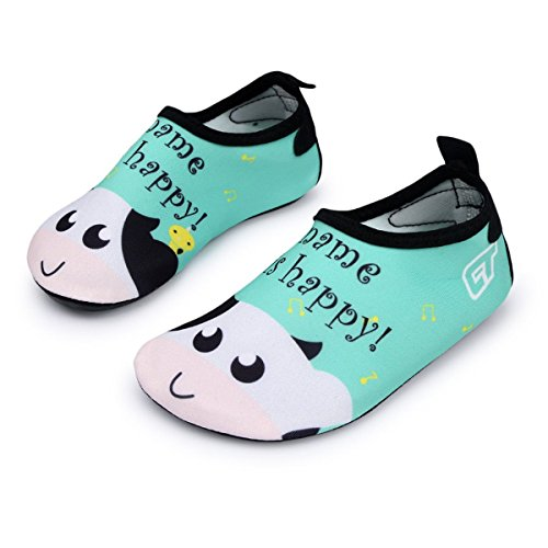 Adorllya Water Shoes Aqua Socks Water Socks Swim Shoes for Kids Toddlers Boys Girls,Green -
