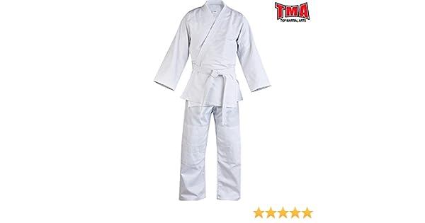 Judo Uniform Single Weave 450 gram White Jiu Jiutsu kids//Adults TMA Bjj gi