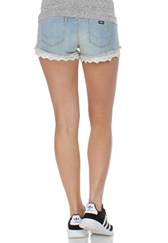Superdry Jeansshorts Women LACE HOT SHORT Bleach Wash