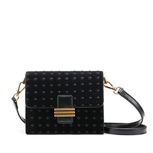 Bag Retro Vogue Bag Mini Slung Shoulder Single Black Velvet WH7zqTpxU