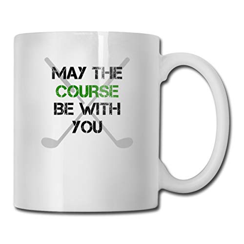 Riokk Az May The Course Be with You 11oz Coffee Mug Funny Cup Tea Cup Birthday Gift -