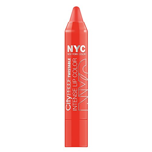 N.Y.C. New York Color City Proof Twistable Intense Lip Color, Canal St Coral, 0.09 Ounce
