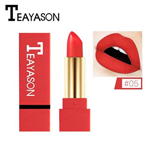Clearance! Matte Lipstick for Women, Iuhan Matte Lipstick Waterproof Pigment Brown Nude Long Lasting Lipstick Matte Makeup (E)