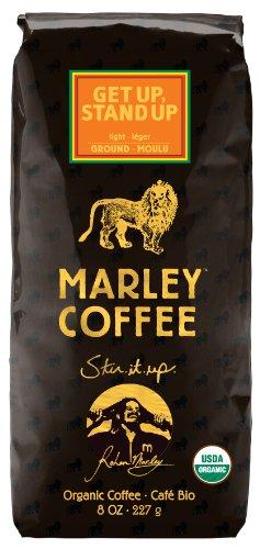 Марли Кофе, органический Get Up, Stand Up, молотый кофе, 8 унций