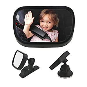 Wisfox espejo del asiento trasero espejo retrovisor del for Espejo retrovisor coche bebe