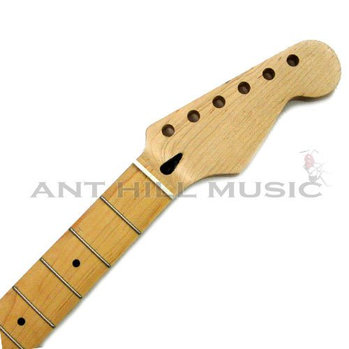 Mighty Mite Stratocaster Compound Radius Replacement Guitar Neck - Maple Fingerboard by Mighty Mite