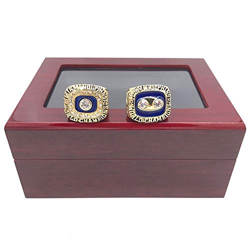 jasperrr 1972 1973 Miami Dolphins Championship Rings Set Size 11 with Display Box ()