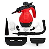 Comforday Multi-Purpose Steam Cleaner, High Pressure Chemical Free Steamer with 9-Piece Accessories, Perfect for Stain Removal, Carpet, Curtains, Car Seats,Floor,Window Cleaning(Upgrade) (Yellow)