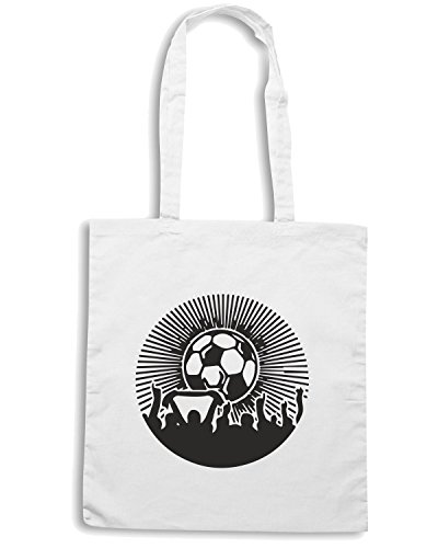 T-Shirtshock - Bolsa para la compra WC1036 Football Fans Maglietta Blanco