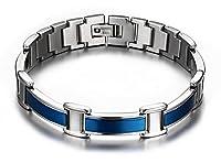 Blue Titanium Magnetic Therapy Bracelet Pain Relief for Arthritis Carpal Tunnel Tendonitis Tennis Elbow