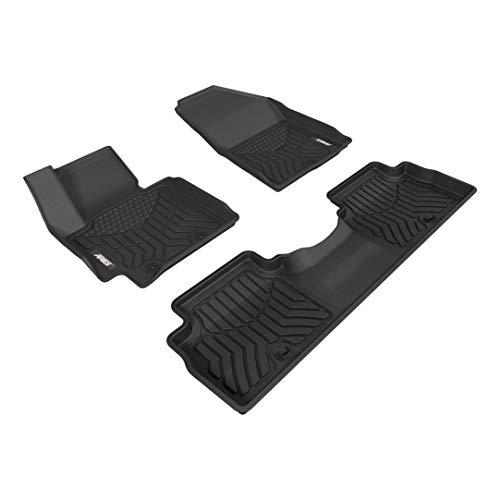 ARIES 2804809 StyleGuard XD Black Custom Truck Floor Liners for Kia Soul, 1st and 2nd Row