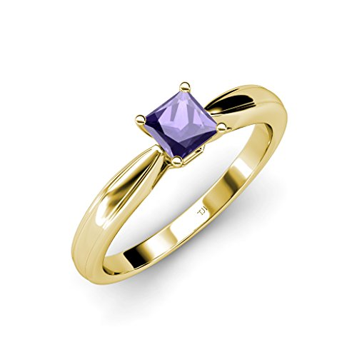 TriJewels Iolite Solitaire Ring 0.85 ct in 14K Yellow Gold.size 4.5 ()