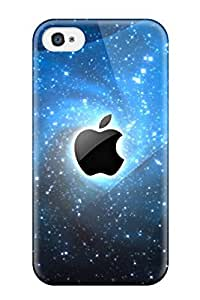 Fashion Tpu Case For Iphone 4/4s- Colourful Apples Defender Case Cover