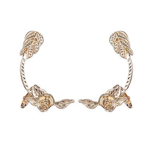 IslandseNew European and American Cross-Border Explosions Rose Flower Earrings Earrings (Beaded Earrings Border)