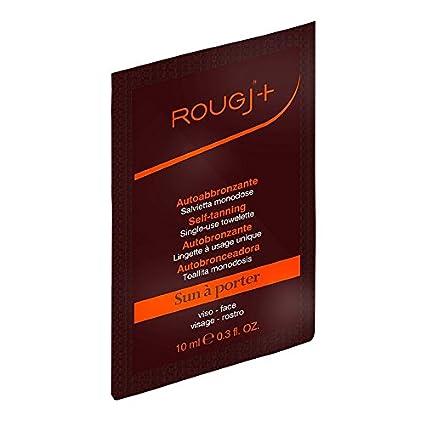 Rougj - Toallita autobronceadora monodosis, aplicación muy fácil y rápida, bronceado uniforme