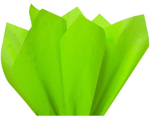 "Lime Green Bulk Tissue Paper 15"" x 20"" - 100 Sheets"