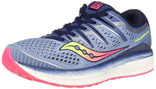 Saucony Women's Triumph ISO 5 Running Shoe, Blue/Navy, 10 M US (Best Running Shoes Underpronation 2019)