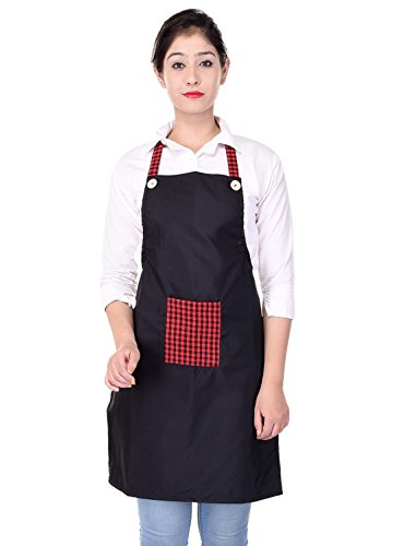 Switchon Waterproof Polyester Kitchen Apron Free Size with Front Pocket Green  Maroon
