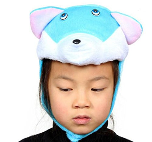 Goodscene Party decoration accessories Cute Kids Performance Accessories Cartoon Animal Hat (Blue Cat) by Goodscene