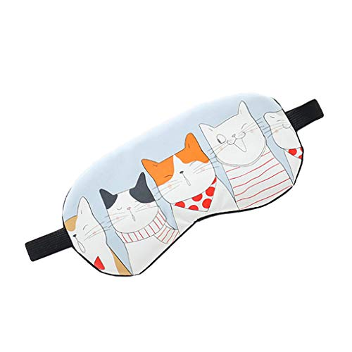 liumiKK 1PC Cute kittens Hot Cold Relaxing Face Eye Care Ice Gel Mask Sleeping Eye Mask Eyepatch Shade Comfort Cover Colorful from liumiKK