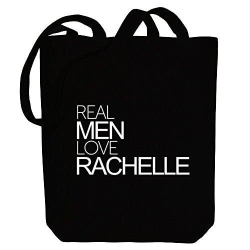Idakoos Real men love Rachelle - Weibliche Namen - Bereich für Taschen