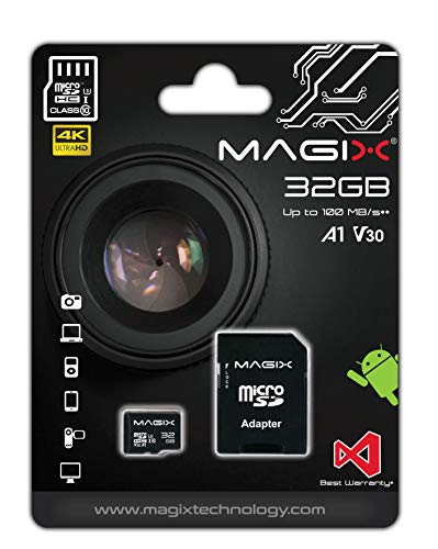 Micro SD Card MAGIX 4K Series Class10 V30 + SD Adapter UP to 100MB/s (32 GB)
