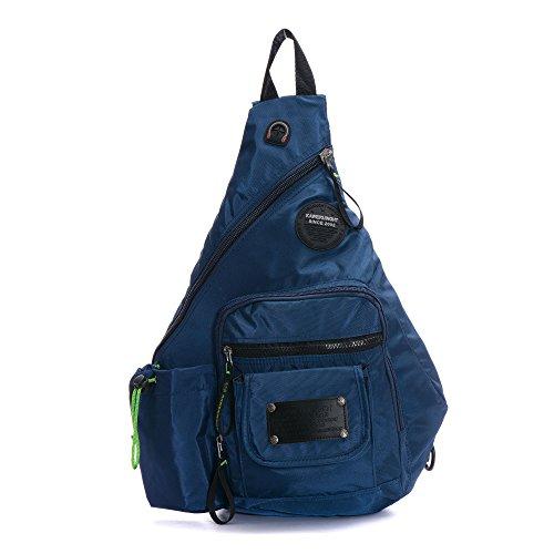 DDDH 13.3-Inch Sling Bag Riding Hiking Bag Single Shoulder Backpack For Men Women(Blue)