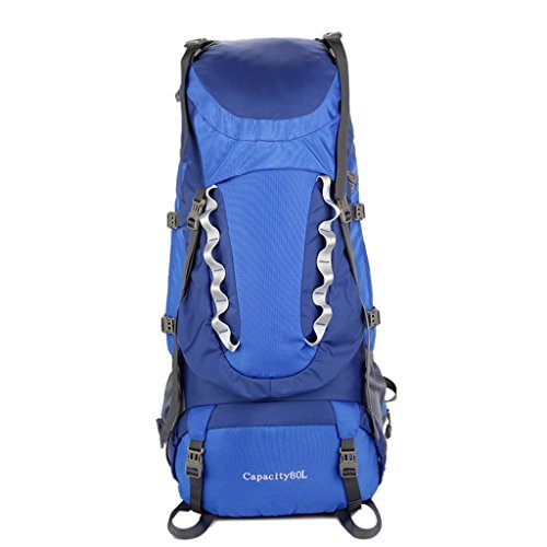 Waterproof Suspension Sports Shoulders Women Four And Stent Travel Nylon Universal Color zyy Backpack Blue 80L Blue Backpack Men Outdoor Seasons Profession Backpacks qB0ZXE