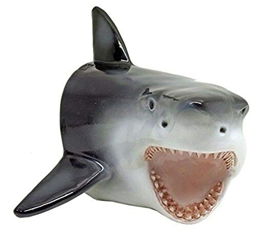 (Ky & Co YesKela Large Shark Head Wall Mount Statue Bust - Predator - Mako Great White Shark.)
