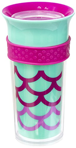 Sassy Insulated Tritan 360 Grow up Spout Less Sippy with Gripper, Blue/Pink (Gripper Bottle Feeding)