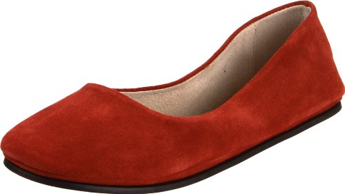 Flats French Suede Sole (French Sole FS/NY Women's Sloop Flat, Red Suede, 8.5 M US)