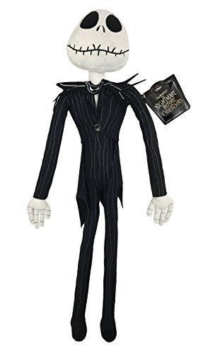 (Disney Nightmare Before Christmas Plush Stuffed Jack Skellington Pillow Buddy - Kids Super Soft Polyester Microfiber, 27 inch (Official Product))