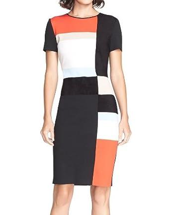 18d4b5a69167 St. John Collection Women s Colorblock Milano Knit Sheath Dress - Black -