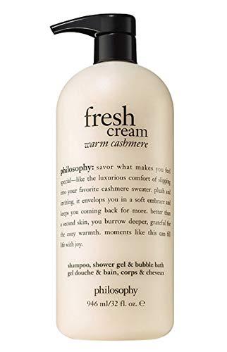 - Philosophy Shampoo Shower Gel & Bubble Bath 32 fl. oz. (Fresh Cream Warm Cashmere)