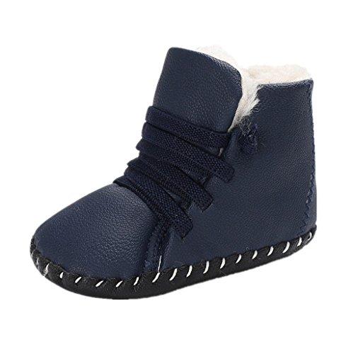 competitive price 22ce3 90f7a Cálidos Niños Botas Zapatos Azul Invierno 0 Bebé De Pequeños 18 Bebés Auxma  Meses Suela Bebés ...